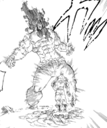 Escanor repelling Izraf's Impurity