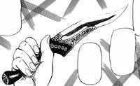 Ban taking Cenette's dagger