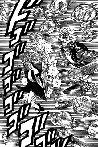 File:Ban attacking Meliodas with multiple punches.png