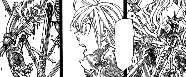 File:Meliodas at shock at the site of Great Holy Knight.png