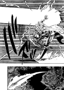 Gilthunder throwing a spear