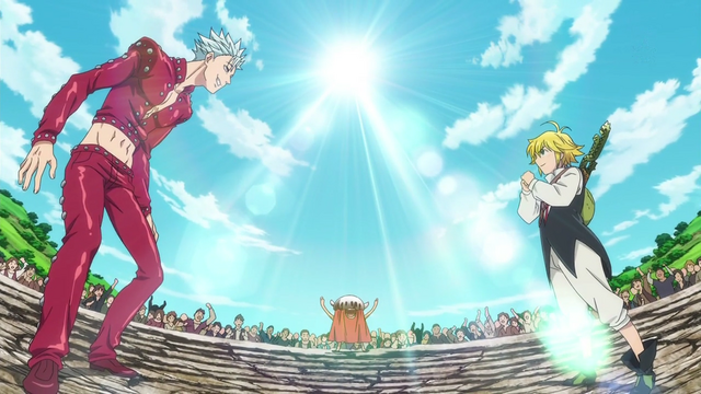 File:Ban and Meliodas facing in the ring.png