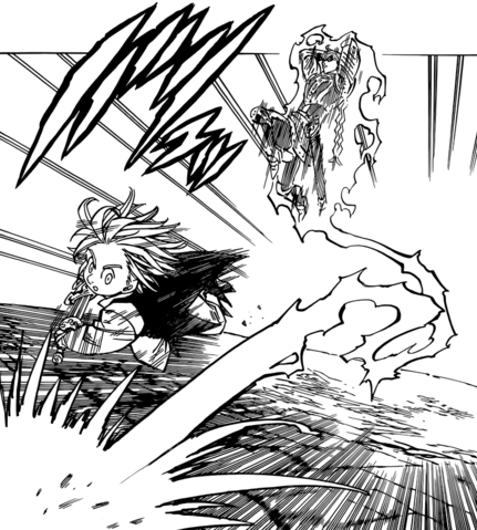 File:Gilthunder getting behind Meliodas while he was charging at him.png