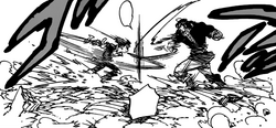 Zeldris and Fraudrin attempting to attack Meliodas