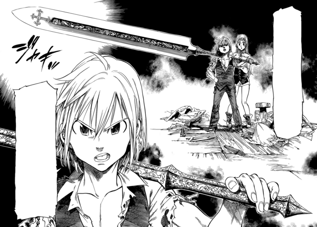 File:Meliodas claiming he is the captain of the Seven Deadly Sins.png