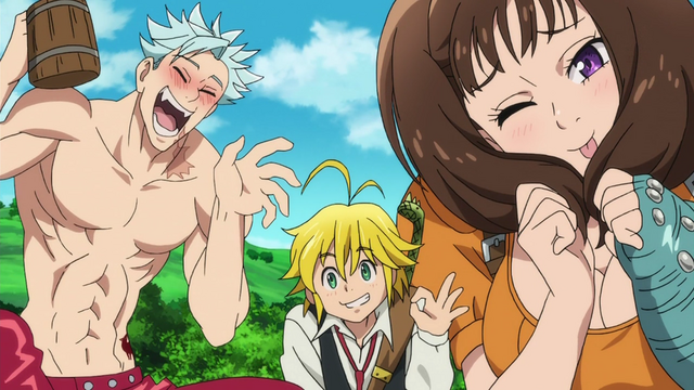 File:Diane, Meliodas and Ban saying their lost their sacred weapons.png