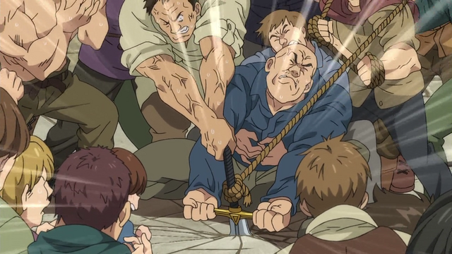 File:Bernia villegers trying to pull out Gilthunder's sword.png