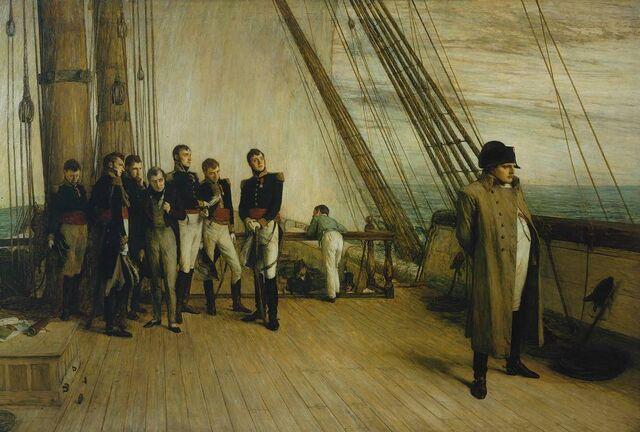 File:Napoleon on board the Bellerophon.jpg
