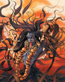 Kali- she will be with taksaka