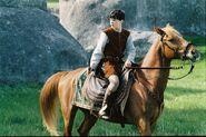 Edmund on a horse