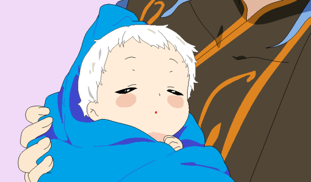 File:Gus holding his oldest child, Demyx.png
