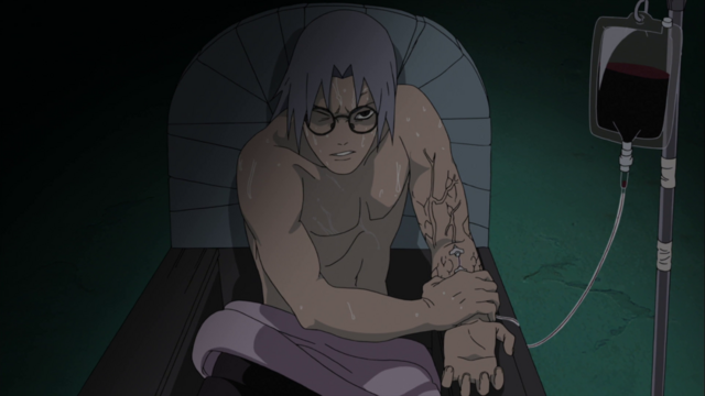 File:Kabuto infusing Orochimaru's blood.png