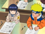 Naruto and hinata at first exam.png
