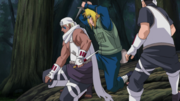 Minato and B face off