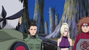 Team Asuma with Kakashi Hatake in charge