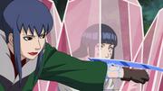Guren holds Hinata captive