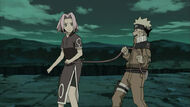 Naruto tied sakura to avoid getting lost by theboar-d5zq2vy