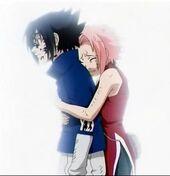 Sakura stops Sasuke in embracing him