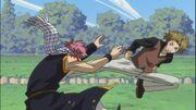 Hiruko kicks his opponent