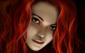 Fantasy-Girl-With-Red-Hair-wallpaper