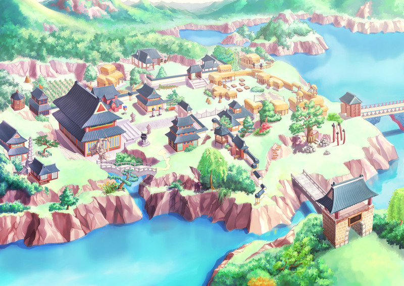 Naruto Hidden Villages Map - 0425