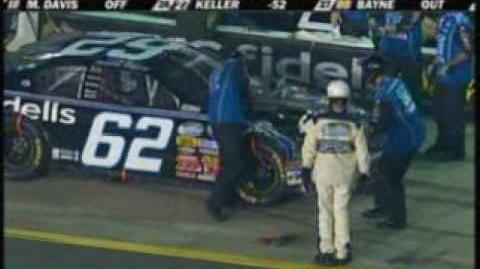 2009 NASCAR Nationwide Nashville - Brendan Gaughan and Marc Davis pit accident