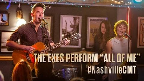 "NASHVILLE on CMT The Exes Sing ""All Of Me"" at the Bluebird Cafe"