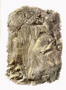Horse attacked by arrows, engraving in cave Badanj near Stolac, c. 14000 BC.