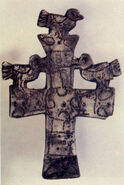 Decorative cross from 7th century found on Busko Blato lake in Herzegovina GNU