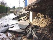 Hurbanova damage of the flood