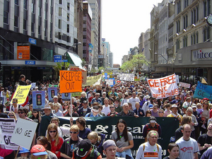Bioengineering protest march