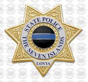 Seven State Police Badge