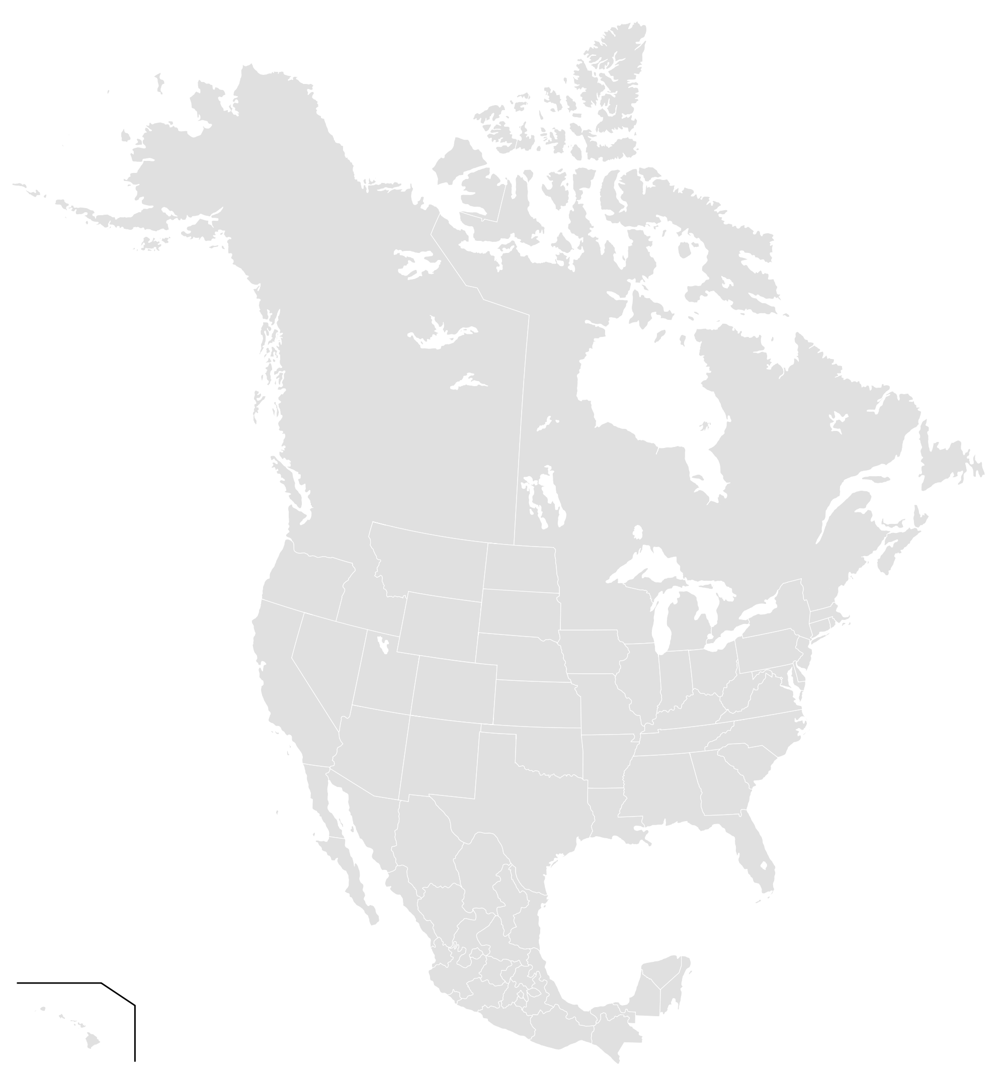 Image Map of North America NCpng Nation