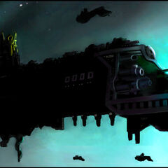 A Signarian Fleet pictured here in Battle Formation.