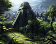 Modern Mayan Temple