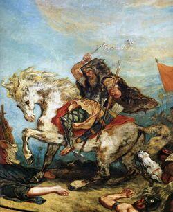 Eugene Ferdinand Victor Delacroix Attila fragment