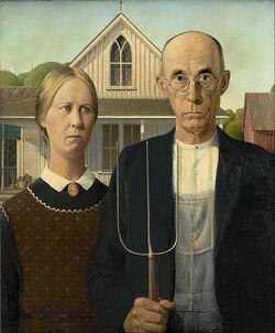 497px-Grant Wood - American Gothic - Google Art Project