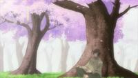 Yasaka-sama beneath the tree