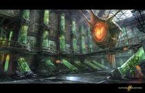 Concept hive room biodome