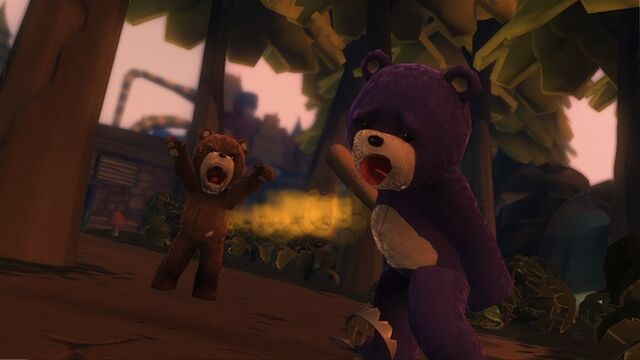 File:(Naughty bear) bear stuck in bear trap.jpg
