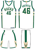 Milwaukee Bucks home uniform 2015-16