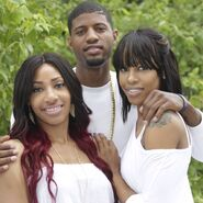 Paul george and his sisters