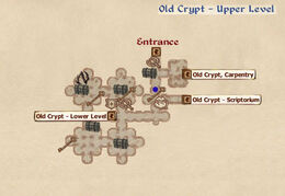 Old Cypt Upper Level map