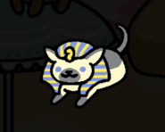 Ramses giving a memento