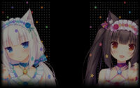 NEKOPARA Vol 1 Background Chocola&Vanilla looking at you