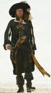 Barbossa in Pirates of the Caribbean At World's End