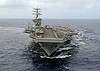 USS Nimitz transits the Pacific Ocean.
