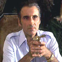Francisco Scaramanga by Christopher Lee