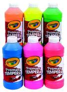Crayola Premier Tempera Flourescent Paint Set