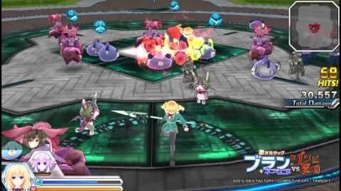 """PS Vita「激次元タッグ ブラン+ネプテューヌVSゾンビ軍団」""""ベール""""プレイ動画"""